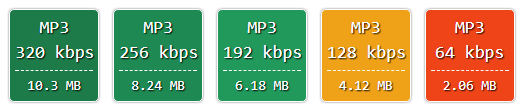 MP3 Converted formats for download